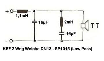 KEF 2 Weg Weiche DN13 - SP1015 (Low Pass)