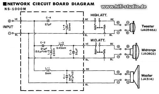 Frequenzweiche Yamaha NS1000