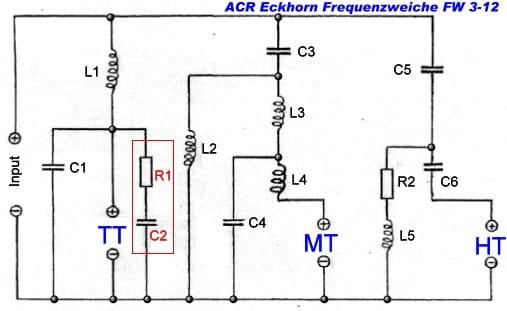 ACR Eckhorn Frequenzweiche FW 3-12