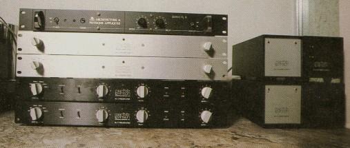 von unten: ML-7, ML-1 und 2 Mono Vorverstärker ML-6