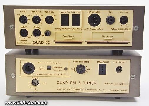 Rückseite Quad 33 und Quad FM3